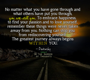 The Greatest Journey Begins