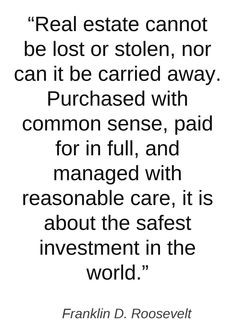 ... experts real estate quote more sound investment real estates quotes