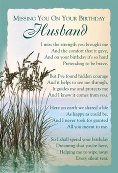 ... birthday heaven husband | Graveside Bereavement Memorial Cards A