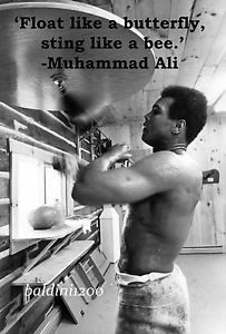 Details about MUHAMMAD ALI - BEAUTIFUL POSTER PRINT WITH QUOTE - LOOKS ...