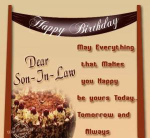 Happy Birthday Dear Son-in-law