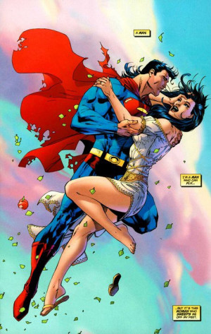 ... Superman and former wife Lois Lane from his and Brian Azzarello's