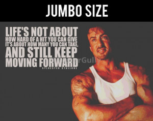 Sylvester Stallone Quote | Keep Moving Forward | Jumbo Poster