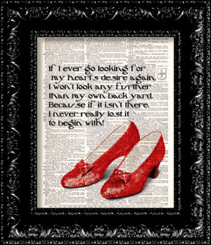 Wizard Of Oz Quotes Hearts Desire ~ Ruby Slippers - Wizard Of Oz ...
