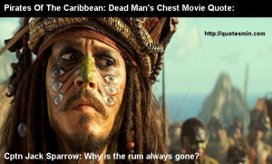 Captain Jack Sparrow Rum Quotes