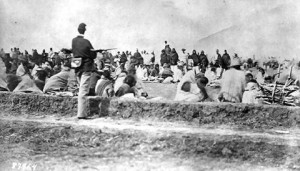 Below: Photo of Navajo Indians imprisioned in the Reservation at Fort ...