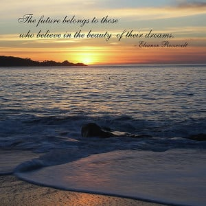 Sunset With Roosevelt Quote Photograph