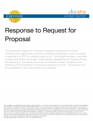 request for proposal research