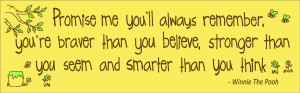 Christopher Robin to Pooh: