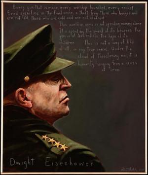 Dwight Eisenhower Portrait by Robert Shetterly