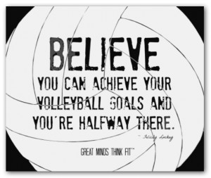 Inspirational Volleyball Quotes on Posters