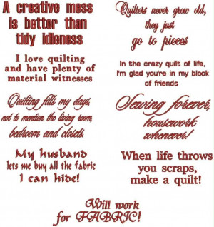 Quilting Sayings Set