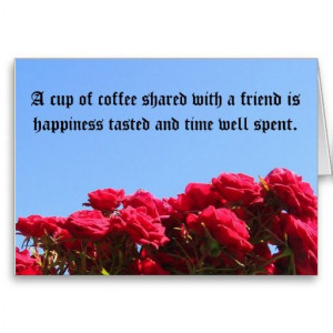 friend quote roses greeting card