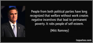 People from both political parties have long recognized that welfare ...