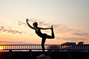 Morning yoga exercise Moksha yoga jane