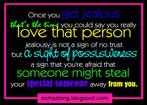 That's The Time You Could Say You Really Love That Person Jealousy ...