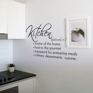 Kitchen Definition Wall Decals