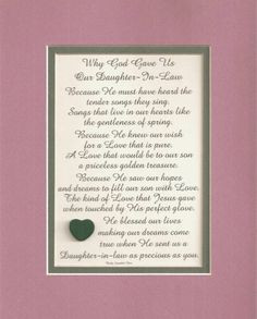 For our Daughter in Law.....we miss her more every day!