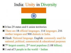India-Unity in Diversity