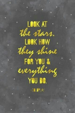 Yellow - Coldplay- this is probably my most favourite song by them ...