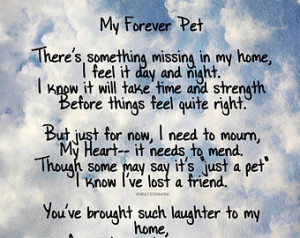 My Forever Pet Poem - Pet Loss - Do g Quote - Wall Art Poster Print ...