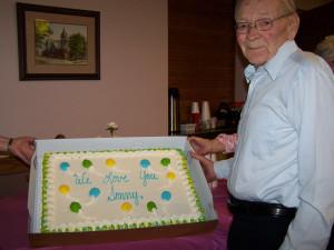 AVNA & Hospice Volunteer Sonny Felger received an honorary cake and ...