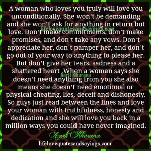 Don't Give Her Tears And A Broken Heart..