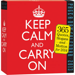 Home > Obsolete >Keep Calm and Carry On 2014 Desk Calendar