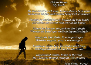 died alone but still loved to memories of uncle simon