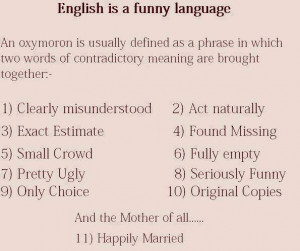 Daily, English is a funny language: Quote About English Funny Language