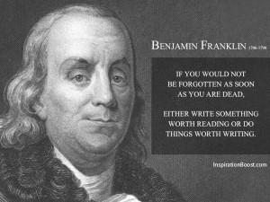Benjamin Franklin Motivational Quotes