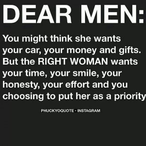What worthy women want, not gold diggers!