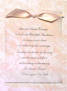 romantic wedding invitation wording