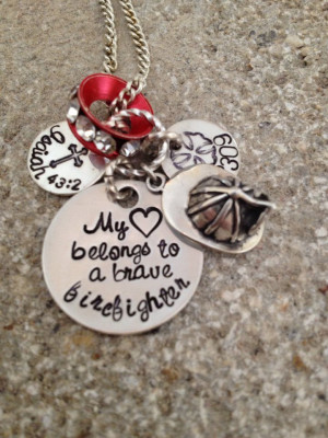 ... My Heart, Firefighters Stuff, Bible Verses, Wife Necklaces, Cop Wife