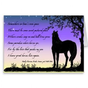 Horse Sympathy Card Morgan Silhouette