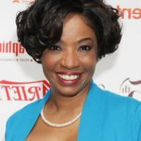 Adriane Lenox Short Curly Bob Hairstyle for Black Women /Getty images
