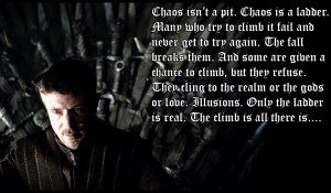Chaos is a Ladder Quote Wallpaper