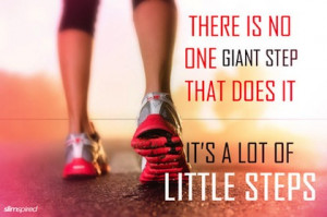 lots of little steps health picture quote