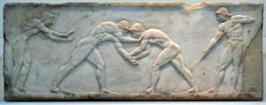 Basis eines Athletengrabes. 510 v. Chr.