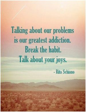 ... talking about real problems and talking about problems that you are