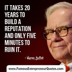 ... advice #investing #reputation #famous #entrepreneur #quotes More