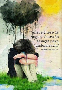 Eckhart Tolle Quote / Anger is always a secondary emotion. Underneath ...