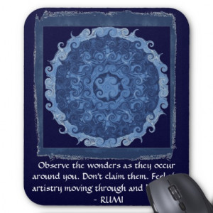 Rumi Mevlana quotation about love and barriers Mousepad