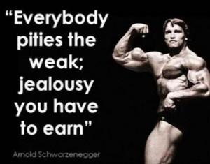 Arnold Schwarzenegger wise quote , workout motivation