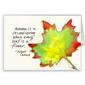 Nature Quote Watercolor and Ink Leaf Cards