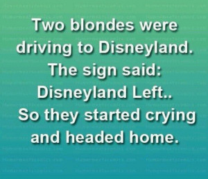Disney World Blonde yes Left