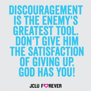 Don't be discouraged!!!