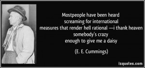More E. E. Cummings Quotes