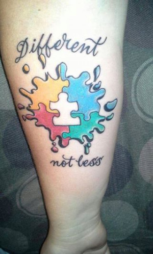 Autism tattoo, love this one.