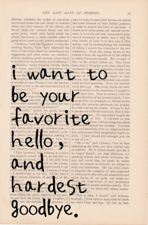 LOVE BLOG QUOTE ETSY EXLIBRISJOURNAL I WANT TO BE YOUR FAVORITE HELLO ...